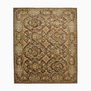 Brown Decorative Handmade Wool Large Oushak Carpet
