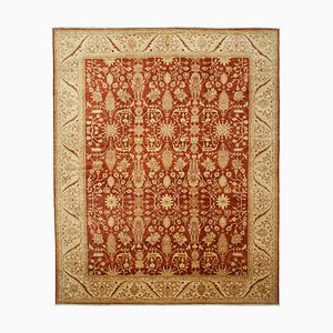 Red Decorative Handwoven Antique Large Oushak Carpet
