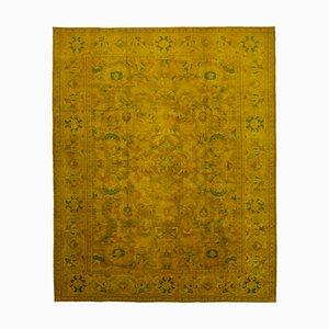 Yellow Turkish Handwoven Antique Large Oushak Carpet