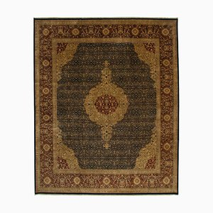 Multicolor Antique Hand Knotted Wool Large Oushak Carpet