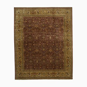 Red Turkish Handmade Wool Large Oushak Carpet