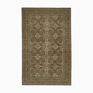 Brown Decorative Handwoven Antique Large Oushak Carpet