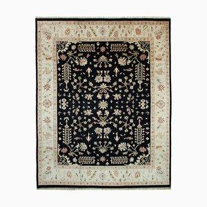Beige Anatolian Hand Knotted Wool Large Oushak Carpet