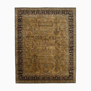 Beige Oriental Handwoven Antique Large Oushak Carpet