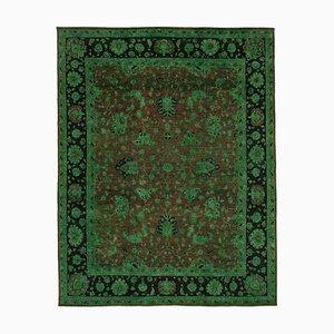 Grüner Oushak Teppich aus handgemachter antiker Wolle