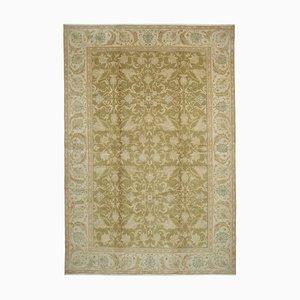 Beige Anatolian Handwoven Antique Large Oushak Carpet