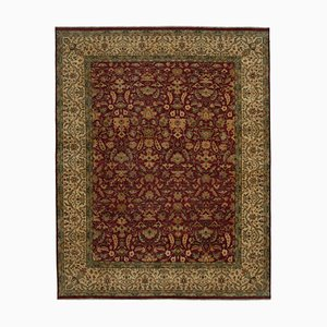 Red Oriental Handwoven Antique Large Oushak Carpet