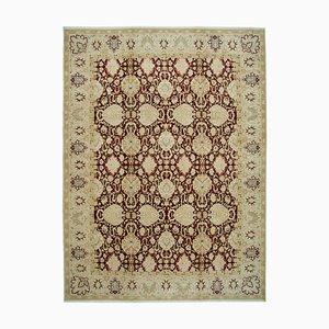 Beige Oriental Handmade Wool Large Oushak Carpet