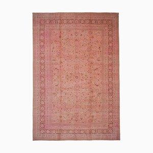 Orientalischer Handgewebter Antiker Oushak Teppich in Rosa