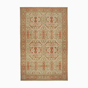 Beige Decorative Handmade Wool Large Oushak Carpet