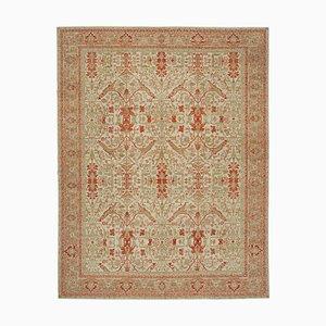 Beige Decorative Handwoven Antique Large Oushak Carpet