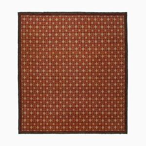 Red Anatolian Handwoven Antique Large Oushak Carpet