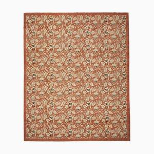 Red Oriental Handwoven Antique Large Oushak Carpet