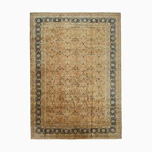 Orange Traditional Handwoven Antique Large Oushak Carpet