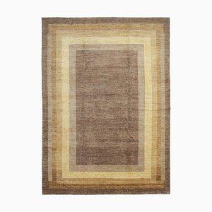 Brown Turkish Handwoven Antique Large Oushak Carpet