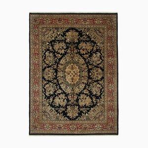 Black Oriental Handmade Wool Large Oushak Carpet