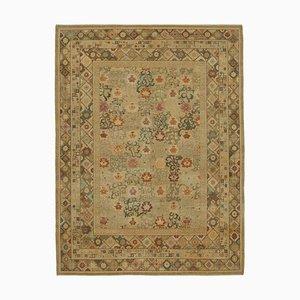 Yellow Decorative Handwoven Antique Large Oushak Carpet