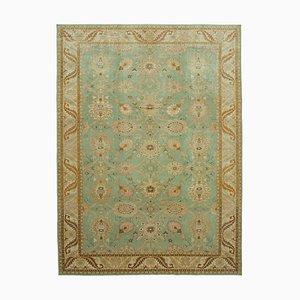 Beige Traditional Handwoven Antique Large Oushak Carpet