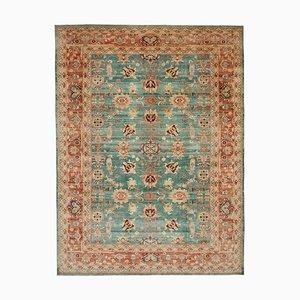 Red Anatolian Handmade Wool Large Oushak Carpet
