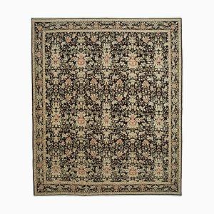 Beige Turkish Handmade Wool Large Oushak Carpet