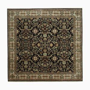 Black Anatolian Handwoven Antique Large Oushak Carpet