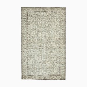 Antiker Handgeknüpfter Anatolischer Vintage Teppich in Beige