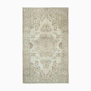Beige Anatolischer Handgeknüpfter Traditioneller Vintage Teppich