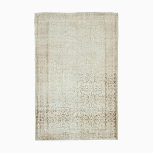 Anatolischer Handgeknüpfter Beiger Handgeknüpfter Beiger Vintage Teppich