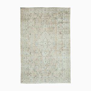 Beige Oriental Antique Hand Knotted Vintage Carpet