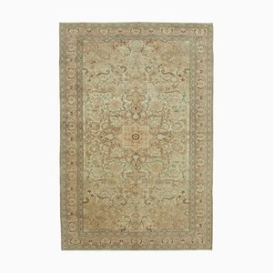 Beige Anatolian Traditional Hand Knotted Vintage Carpet