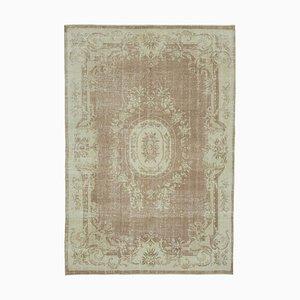 Beige Anatolischer Dekorativer Handgeknüpfter Vintage Teppich
