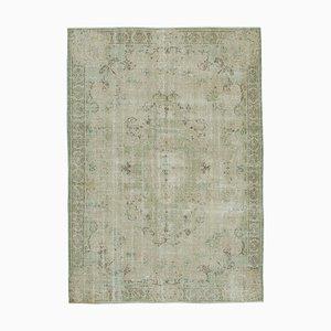 Beige Turkish Contemporary Handmade Vintage Carpet