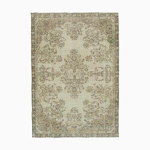 Beige Turkish Decorative Handmade Vintage Carpet
