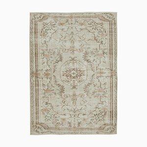 Handgeknüpfter Beiger Orientaler Vintage Teppich