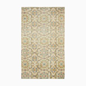 Beige Anatolian Contemporary Hand Knotted Vintage Carpet