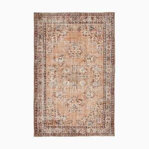 Orientalischer Floraler Handgeknüpfter Vintage Stapel Teppich
