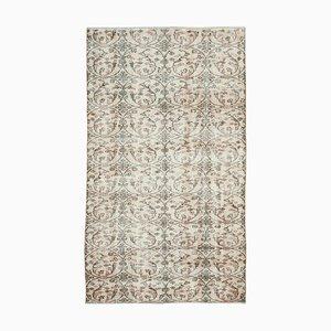 Handgeknüpfter orientalischer Beiger Handgeknüpfter Vintage Teppich