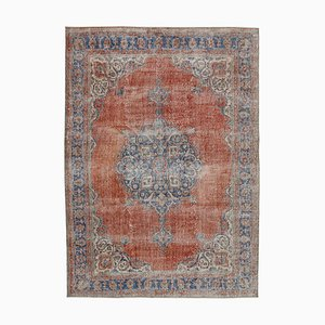 Red Anatolian  Antique Hand Knotted Vintage Carpet