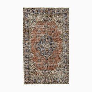 Red Turkish Wool Handmade Vintage Carpet