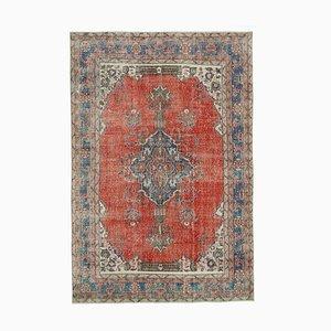 Red Turkish Decorative Handmade Large Vintage Carpet