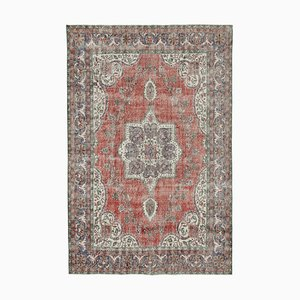 Red Oriental Antique Hand Knotted Large Vintage Carpet