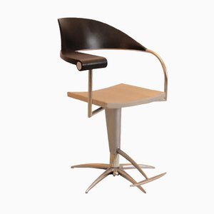 Sedia girevole con posacenere di Philippe Starck, anni '80