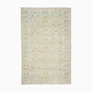 Beige Turkish Decorative Handmade Large Vintage Carpet
