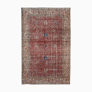Roter Türkischer Handgeknüpfter Handgeknüpfter Vintage Teppich