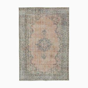 Beige Turkish Contemporary Handmade Large Vintage Carpet