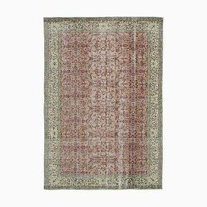 Red Turkish Traditional Handmade Large Vintage Carpet