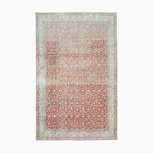 Red Anatolian  Traditional Hand Knotted Large Vintage Carpet