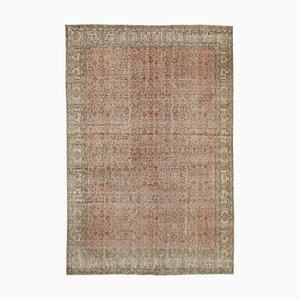 Roter orientalischer antiker handgeknüpfter großer Vintage Teppich