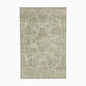 Beigefarbener orientalischer antiker Handgeknüpfter Vintage Teppich