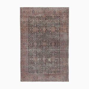 Pink Turkish Traditional Handmade Large Vintage Carpet